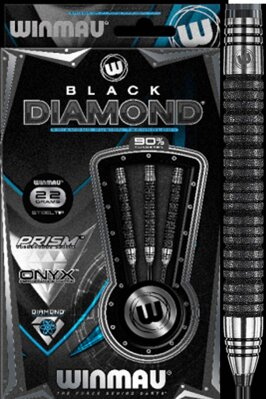 Winmau šipky Black Diamond steel 22g