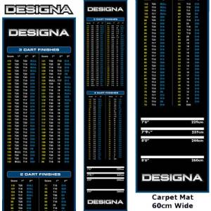 Designa koberec Checkouts Carpet Dart Mat Blue