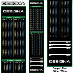 Designa koberec Checkouts Carpet Dart Mat Green