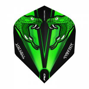 Red Dragon letky Hardcore Peter Wright Snakebite Green Transparent RD3