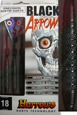 Harrows šipky black arrow 18gK